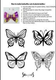 How to make butterflies out of plastic bottles